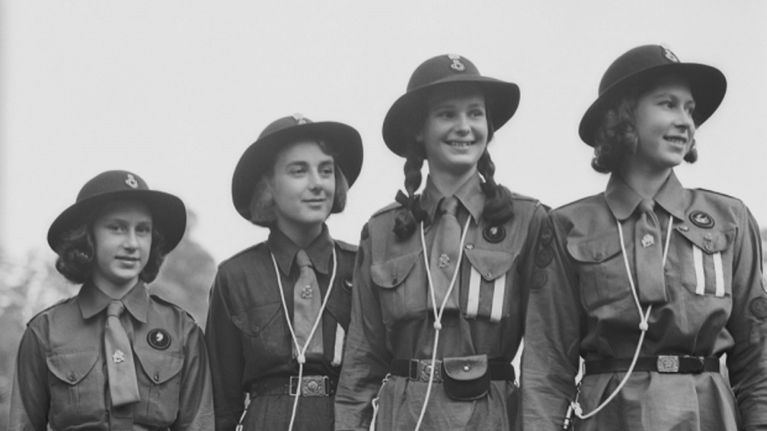 ~Girl Guides in vintage uniform