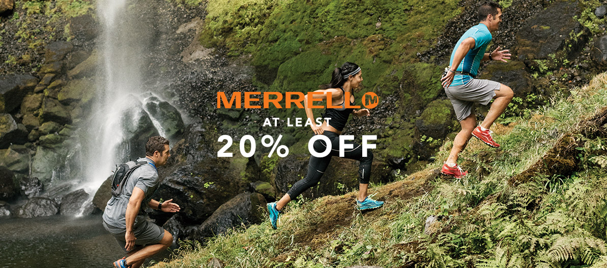 At Least 20% Off Merrell