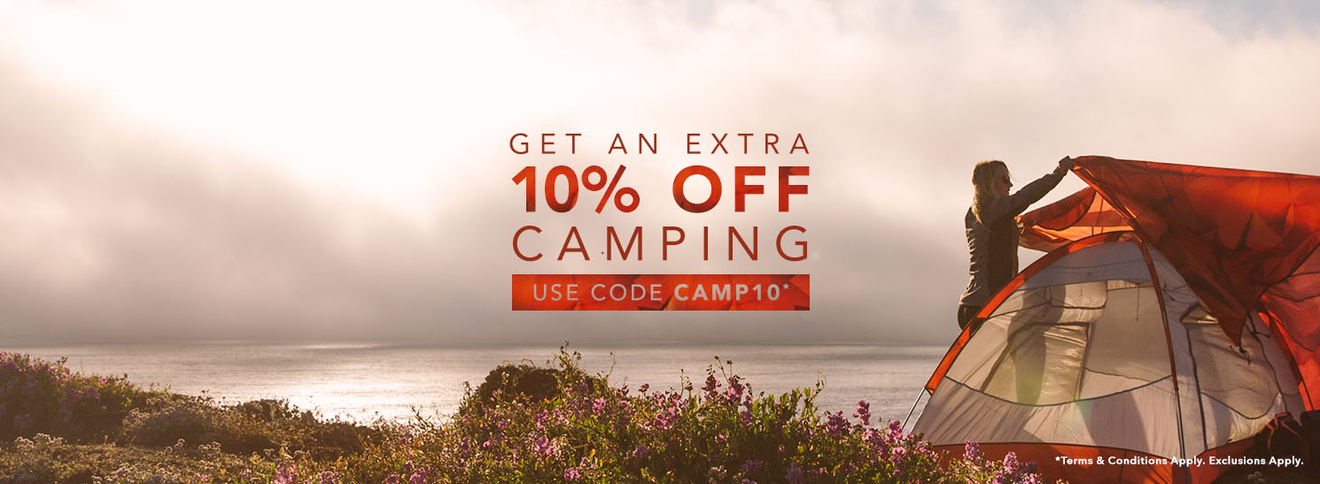 Use Code CAMP10 for 10% OFF Camping